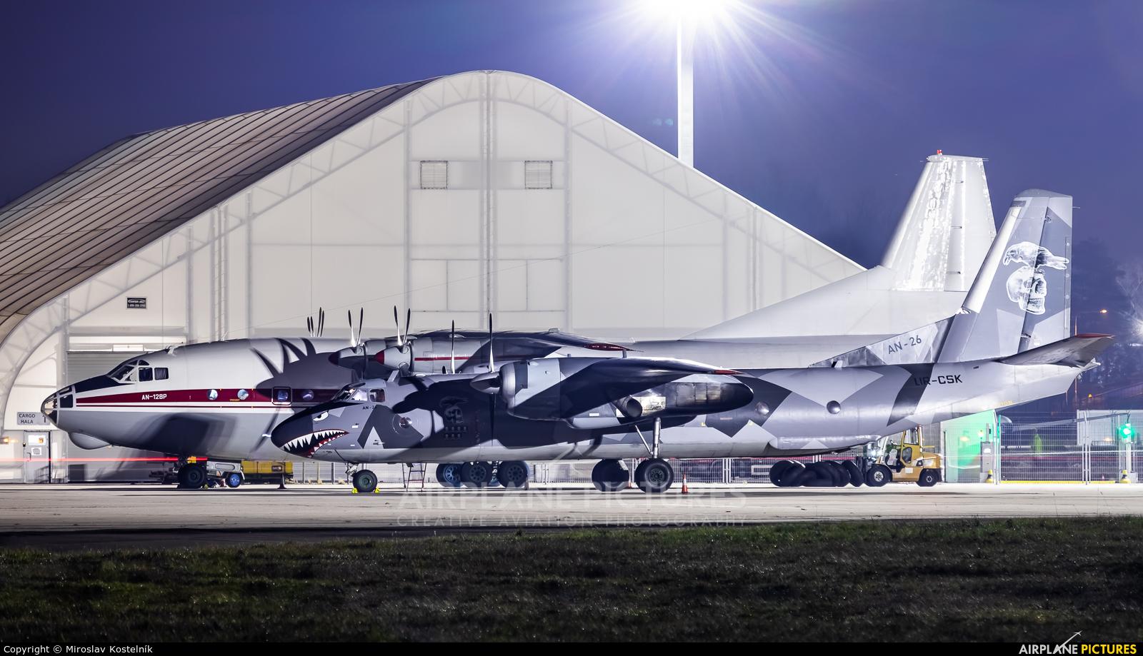 Eleron UR-CSK aircraft at Ostrava Mošnov