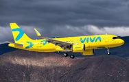 Rare visit of Viva Colombia A320neo to Tenerife Reina Sofia title=