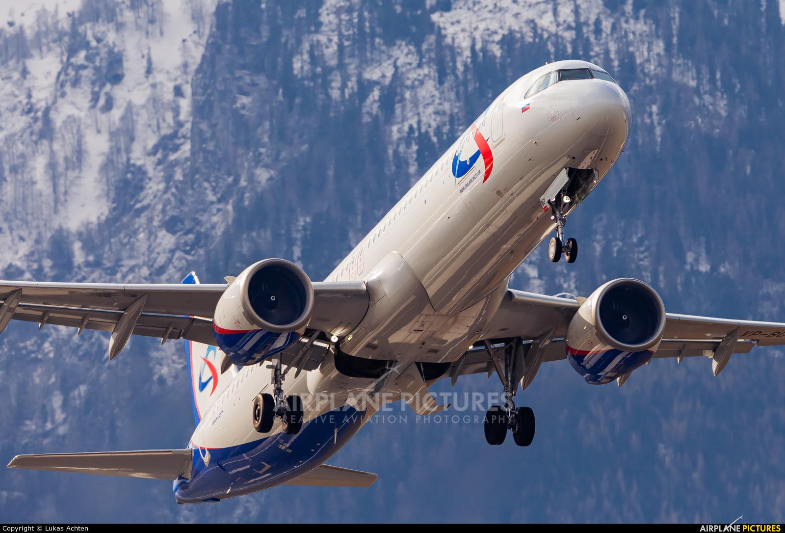 Ural Airlines VP-BOQ aircraft at Salzburg