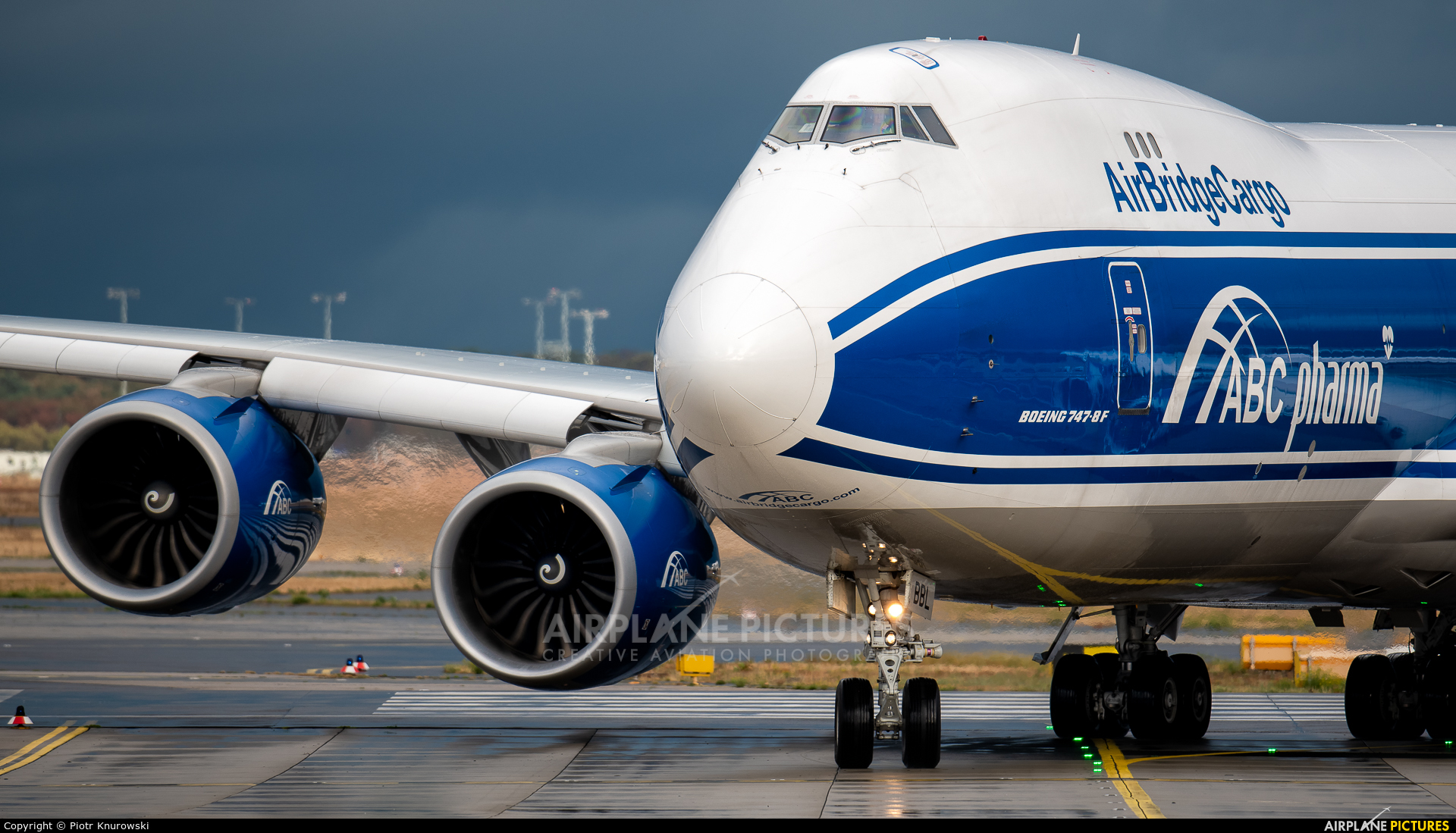 Air Bridge Cargo VP-BBL aircraft at Frankfurt