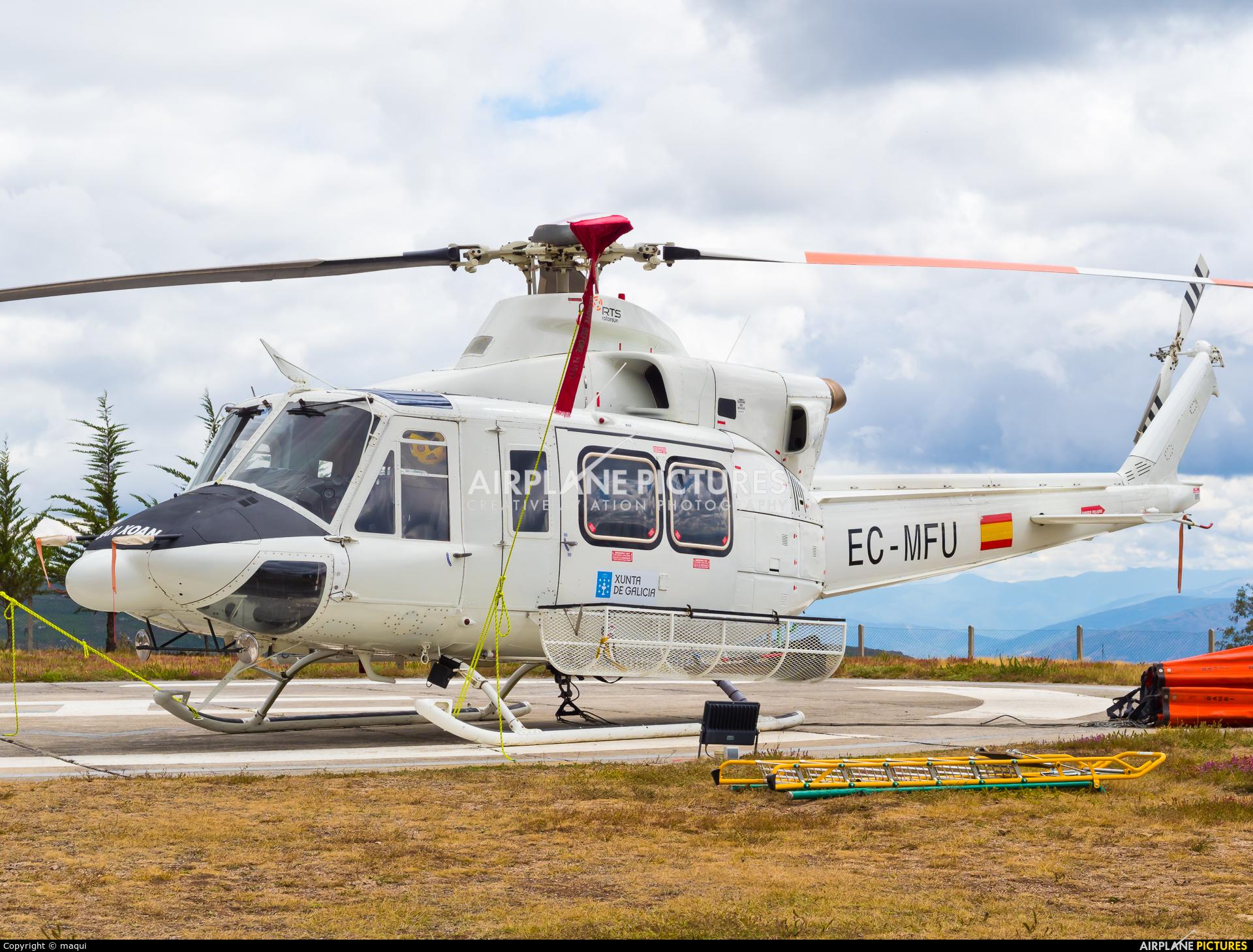 Rotorsun EC-MFU aircraft at Ourense - Base de San Xoan de Rio