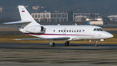 L1-01 - Slovenia - Government Dassault Falcon 2000 DX, EX