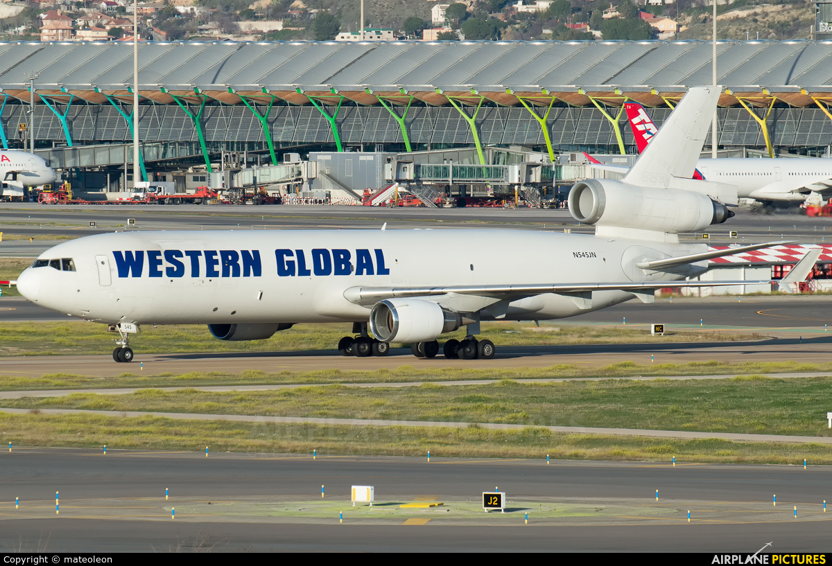 Western Global Airlines N545JN aircraft at Madrid - Barajas