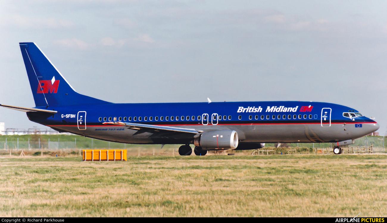 British Midland G-SFBH aircraft at London - Heathrow