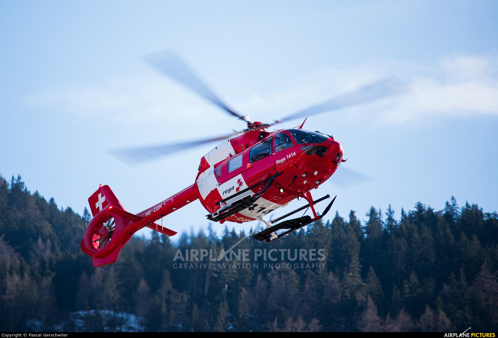 REGA Swiss Air Ambulance  HB-ZQM aircraft at Off Airport - Switzerland