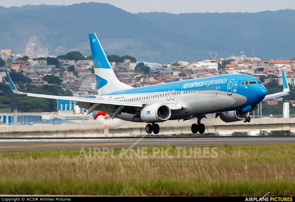 Aerolineas Argentinas LV-GKU aircraft at São Paulo - Guarulhos