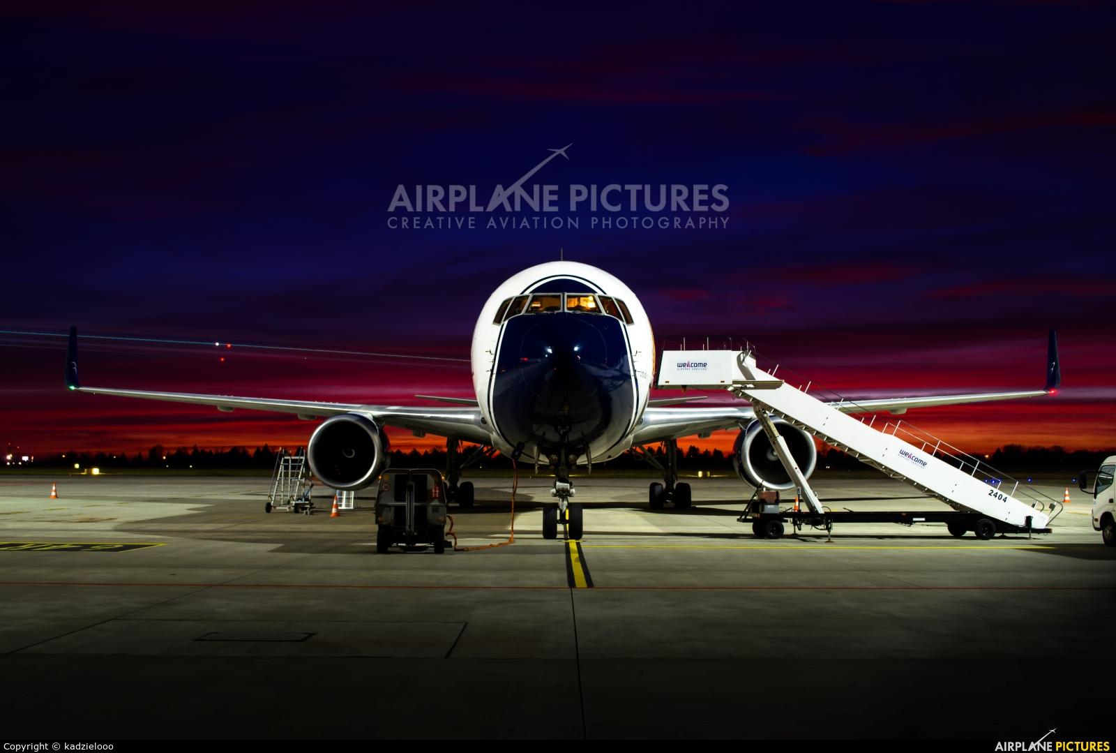 Blue Panorama Airlines I-BPAD aircraft at Warsaw - Frederic Chopin