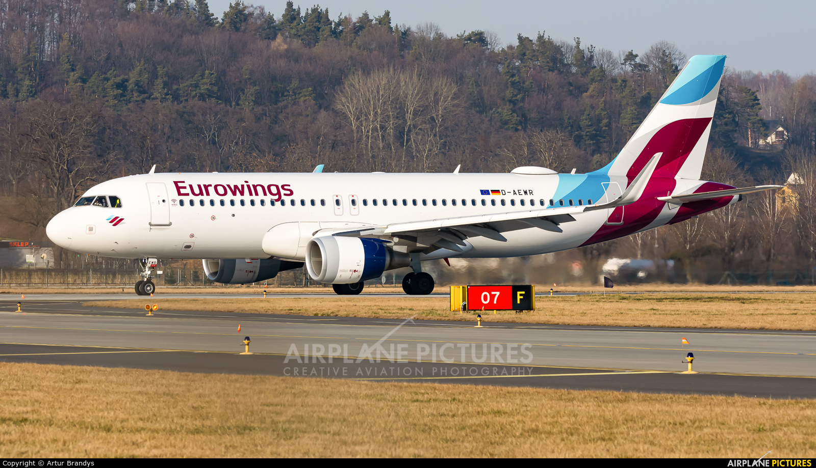 Eurowings D-AEWR aircraft at Kraków - John Paul II Intl