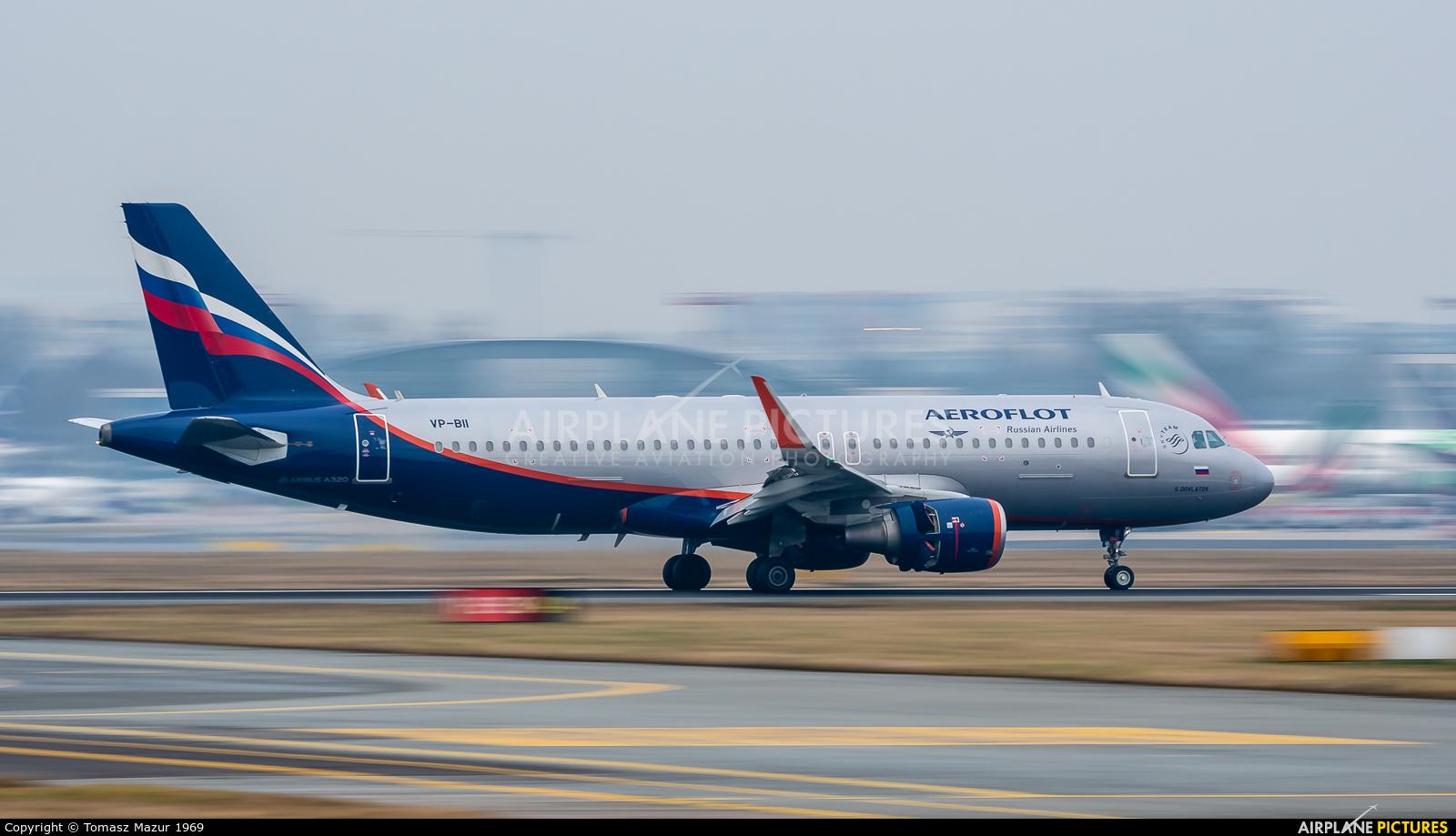 Aeroflot VP-BII aircraft at Warsaw - Frederic Chopin