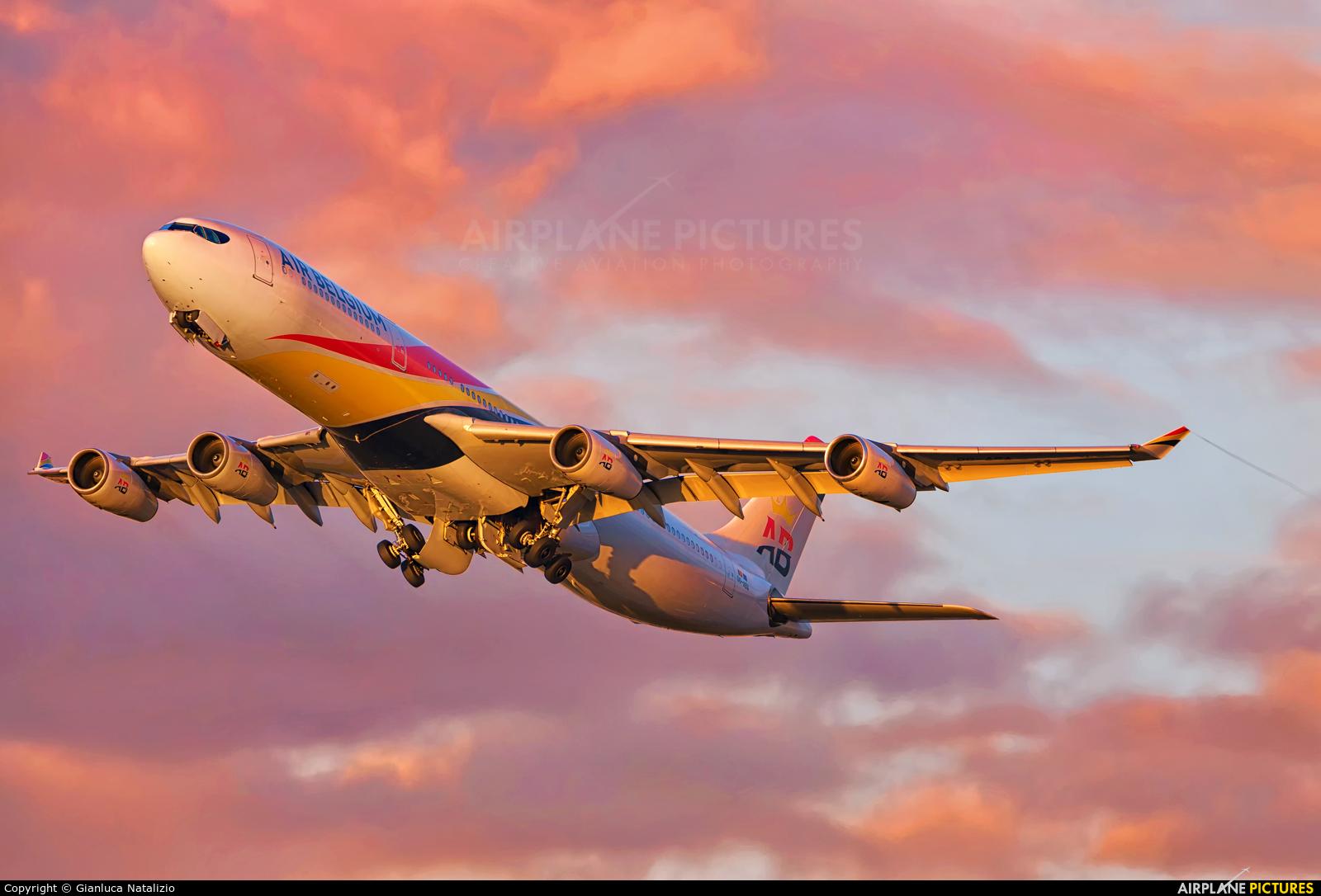 Air Belgium OO-ABA aircraft at London - Heathrow