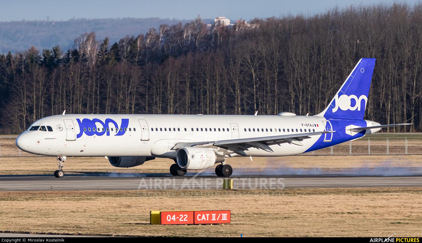 Joon F-GTAJ aircraft at Ostrava Mošnov