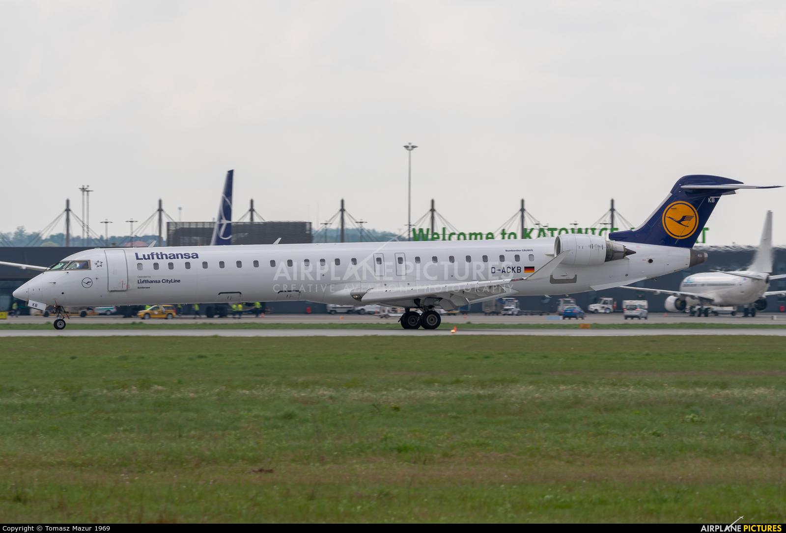 Lufthansa Regional - CityLine D-ACKB aircraft at Katowice - Pyrzowice