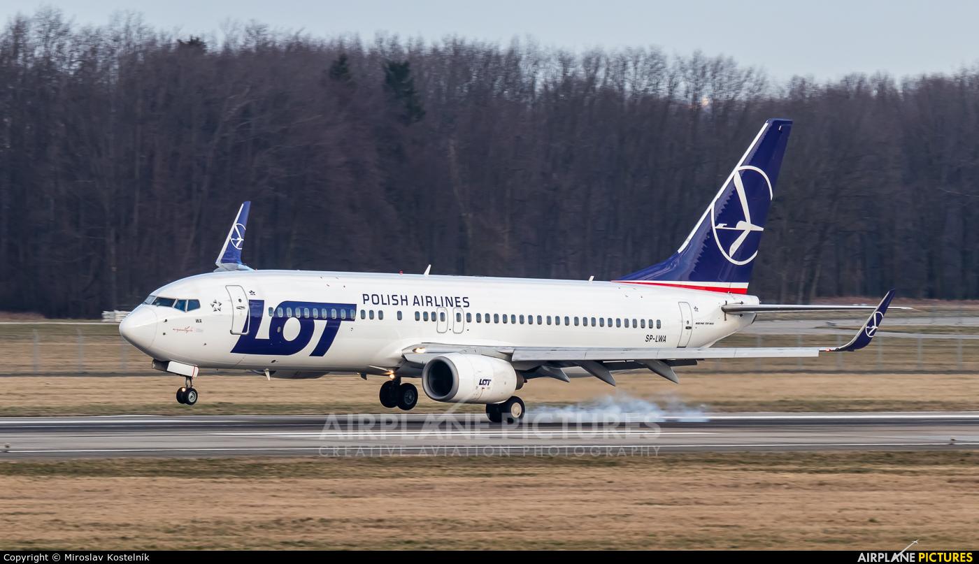 LOT - Polish Airlines SP-LWA aircraft at Ostrava Mošnov