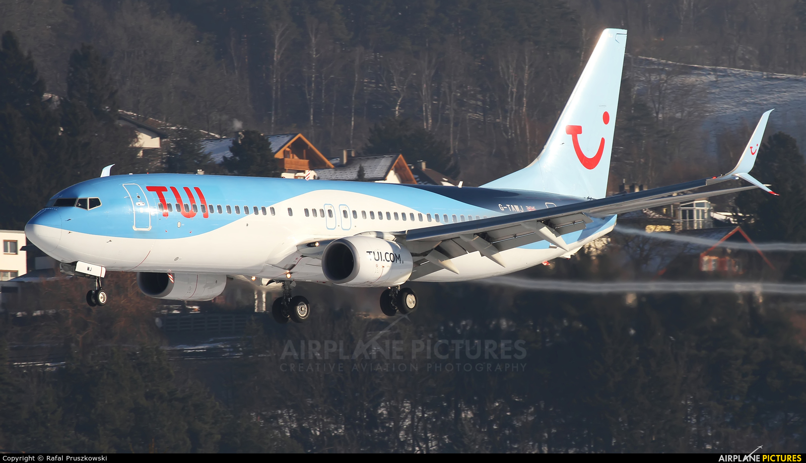 TUI Airways G-TAWJ aircraft at Innsbruck