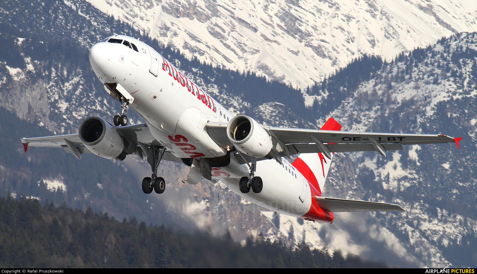 Austrian Airlines/Arrows/Tyrolean OE-LBT aircraft at Innsbruck