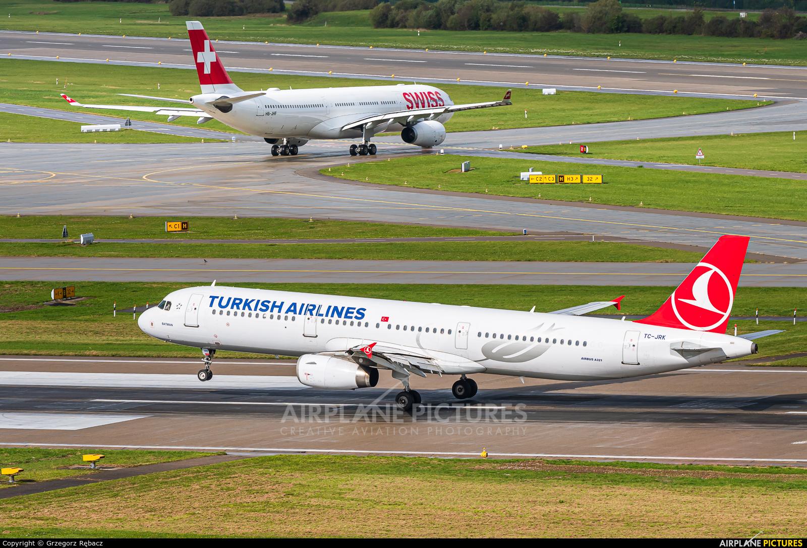 Turkish Airlines TC-JRK aircraft at Zurich