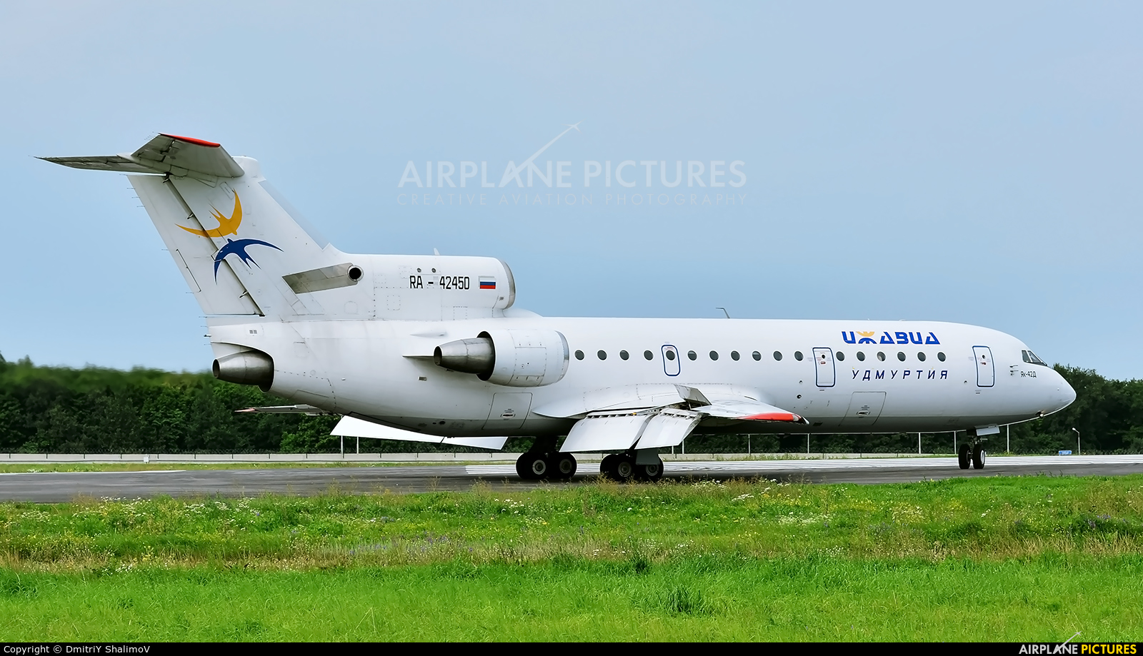 Izhavia RA-42450 aircraft at Belgorod Intl