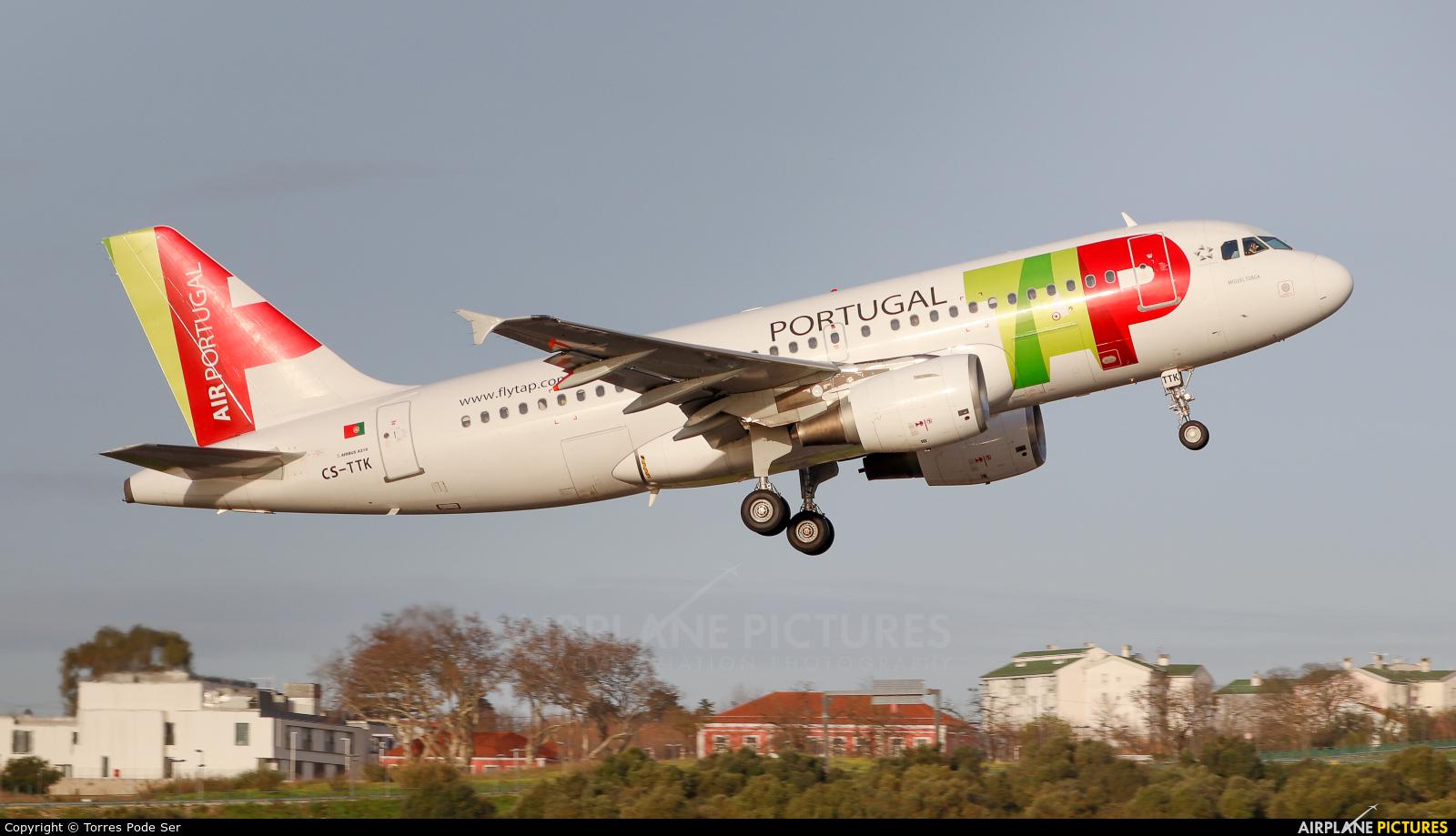 TAP Portugal CS-TTK aircraft at Lisbon