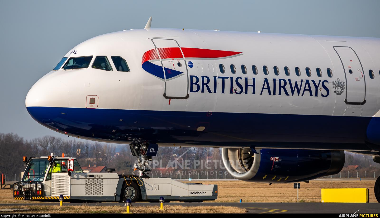 British Airways G-MEDL aircraft at Ostrava Mošnov