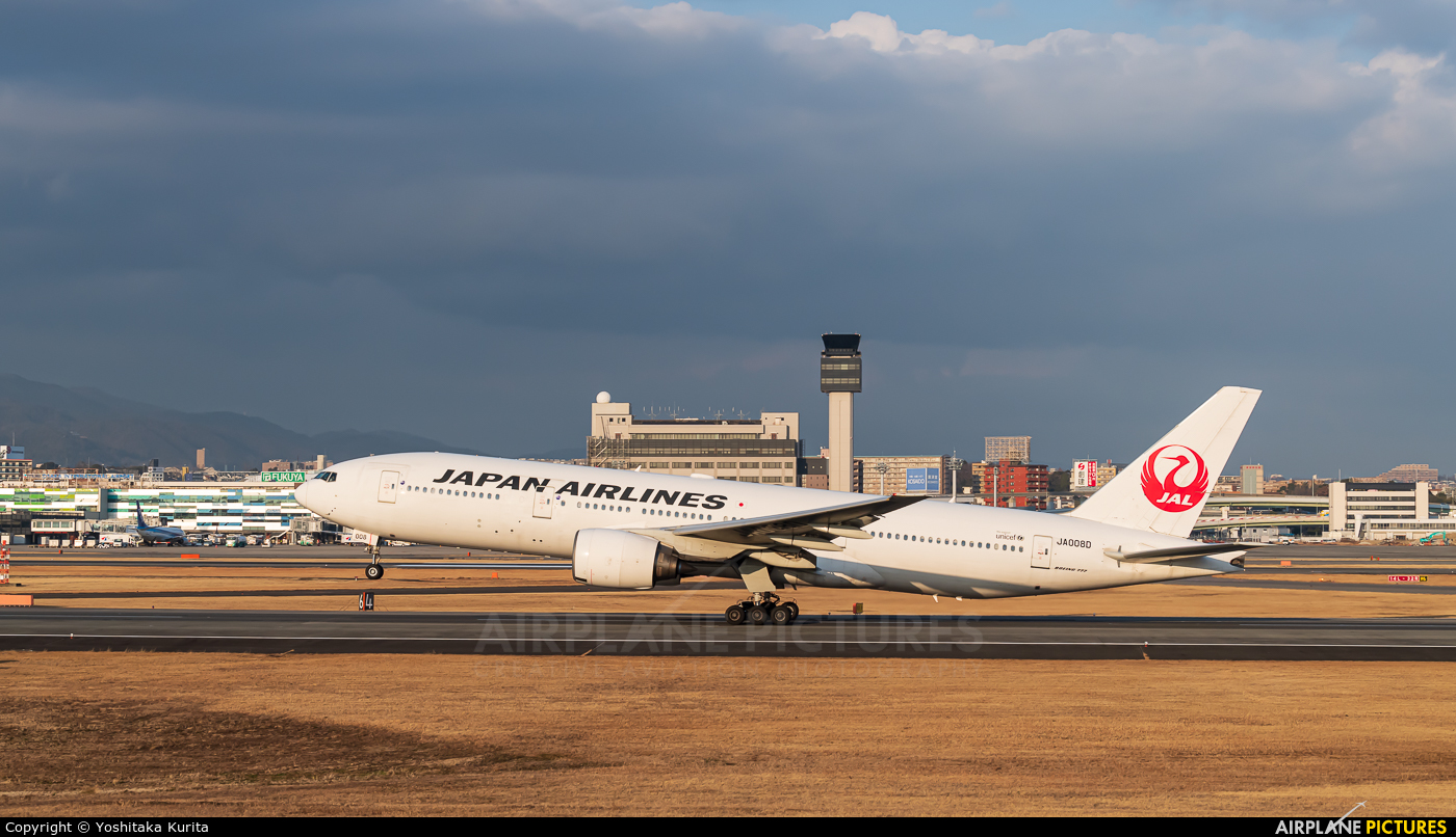 JAL - Japan Airlines JA008D aircraft at Osaka - Itami Intl