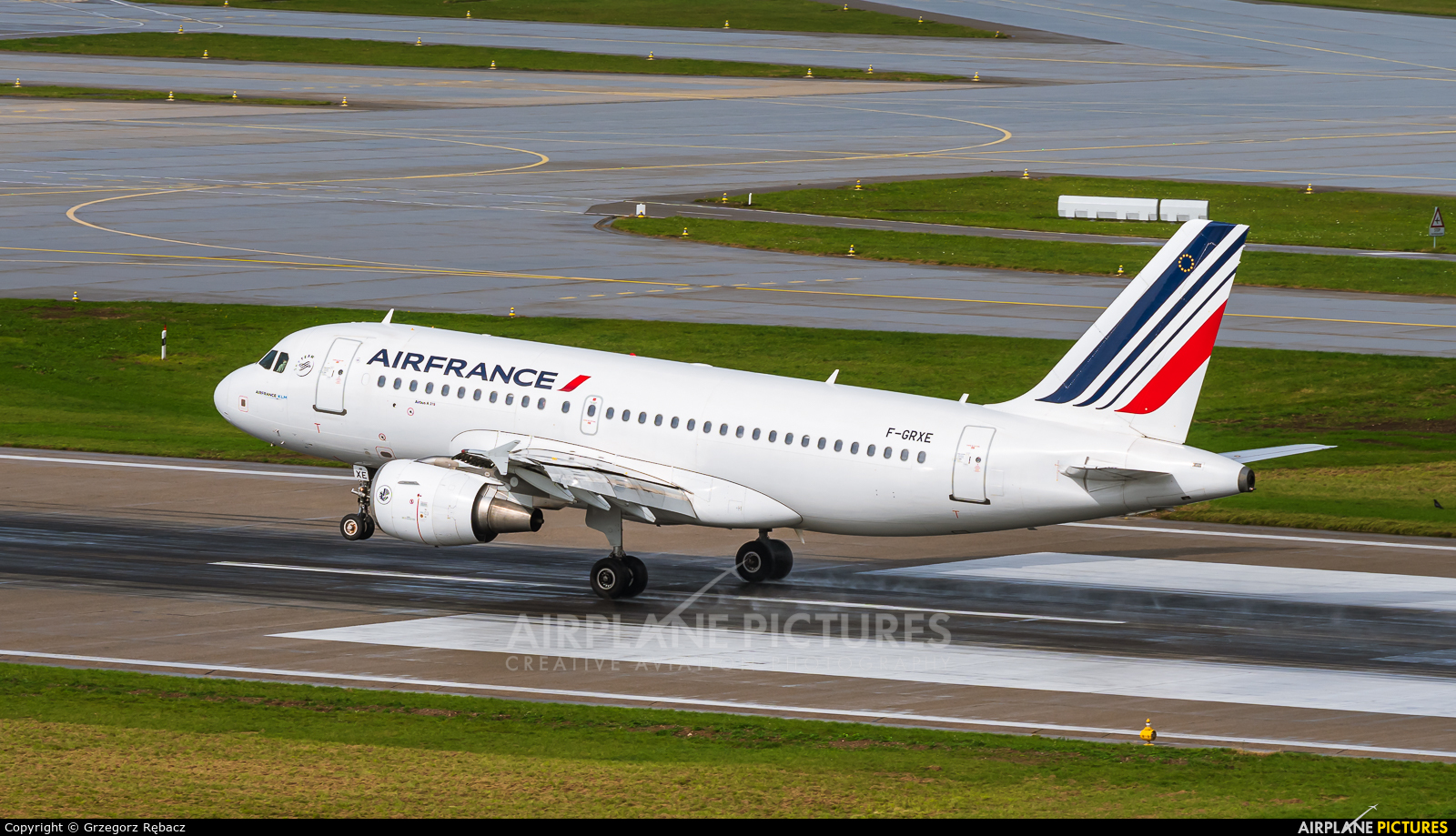 Air France F-GRXE aircraft at Zurich