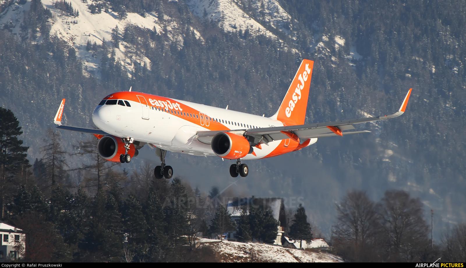 easyJet G-EZWJ aircraft at Innsbruck