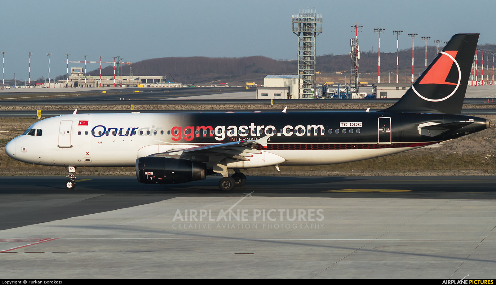 Onur Air TC-ODC aircraft at İstanbul New Airport
