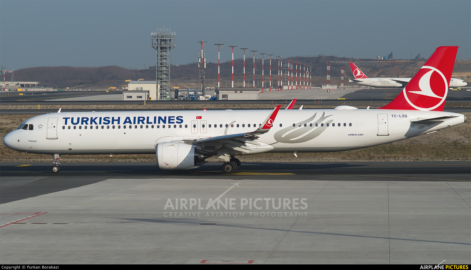 Turkish Airlines TC-LSG aircraft at İstanbul New Airport