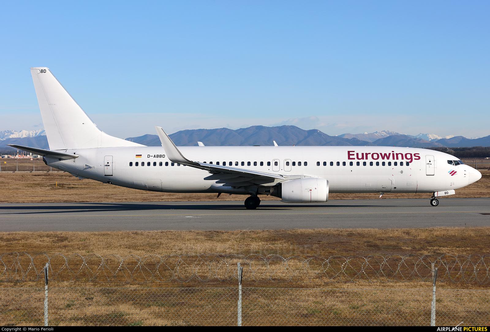 Eurowings D-ABBD aircraft at Milan - Malpensa