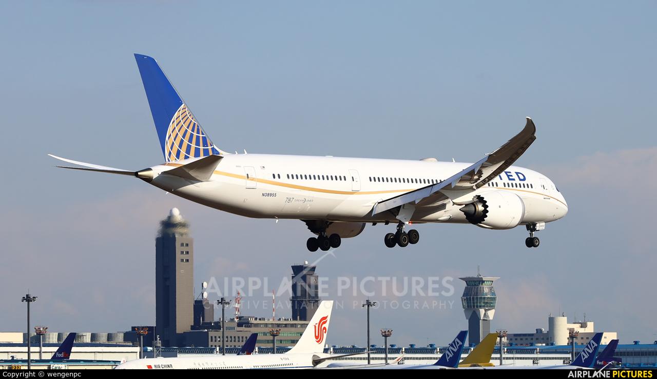 United Airlines N38955 aircraft at Tokyo - Narita Intl