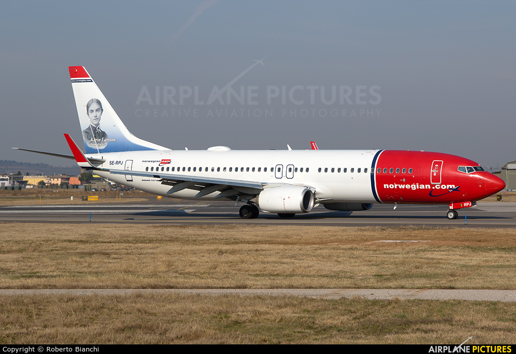 Norwegian Air Sweden SE-RPJ aircraft at Verona - Villafranca