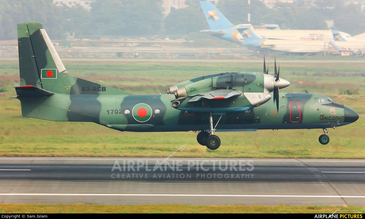 Bangladesh - Air Force S3-ACB aircraft at Dhaka - Hazrat Shahjala Intl