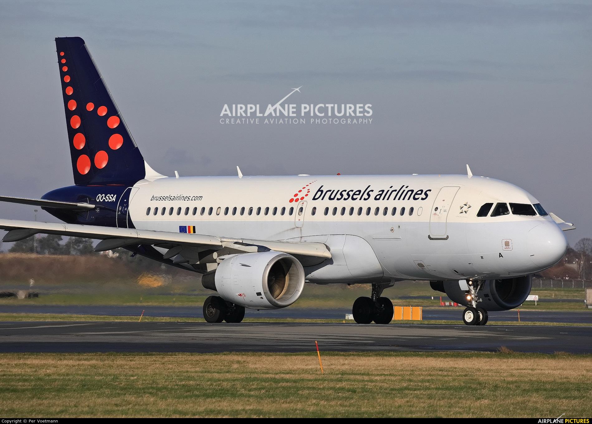 Brussels Airlines OO-SSA aircraft at Copenhagen Kastrup