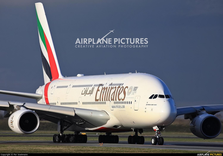 Emirates Airlines A6-EUN aircraft at Copenhagen Kastrup