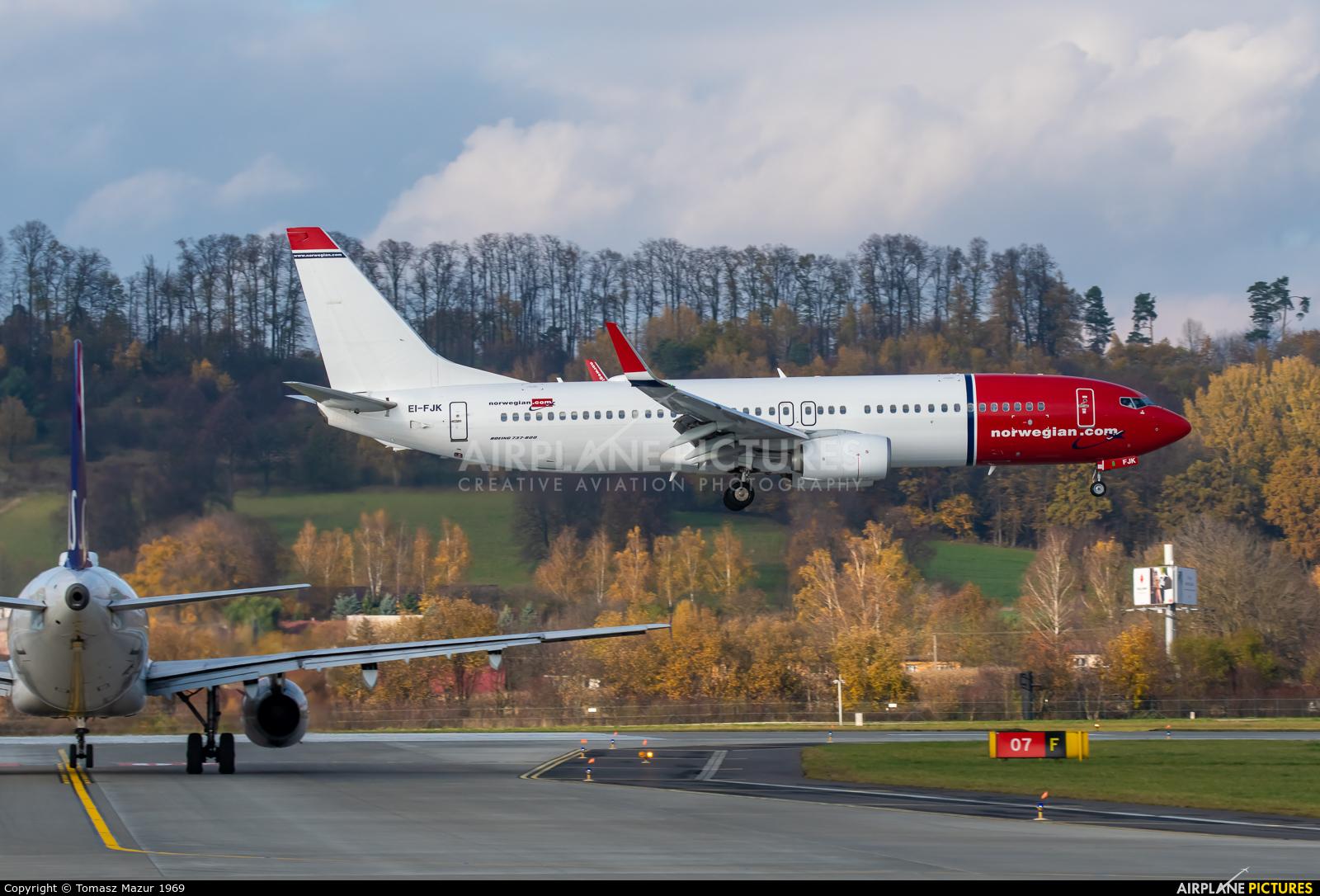 Norwegian Air International EI-FJK aircraft at Kraków - John Paul II Intl