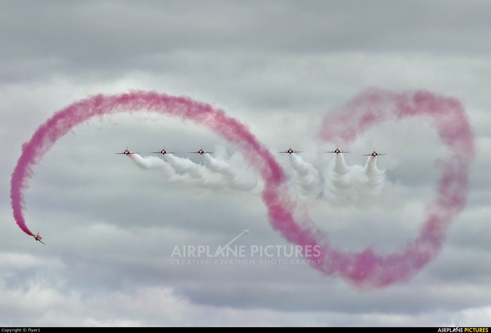 "Royal Air Force ""Red Arrows"" XX227 aircraft at Fairford"