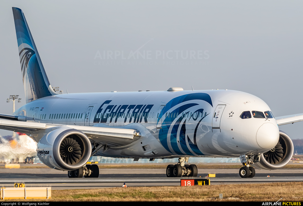 Egyptair SU-GEU aircraft at Frankfurt