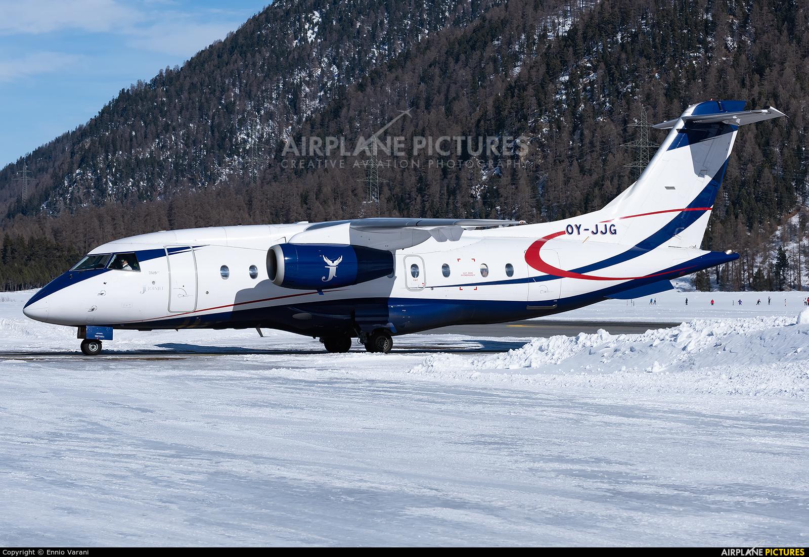 Sun Air OY-JJG aircraft at Samedan - Engadin