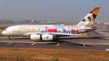 Etihad A380 visited Mumbai  title=