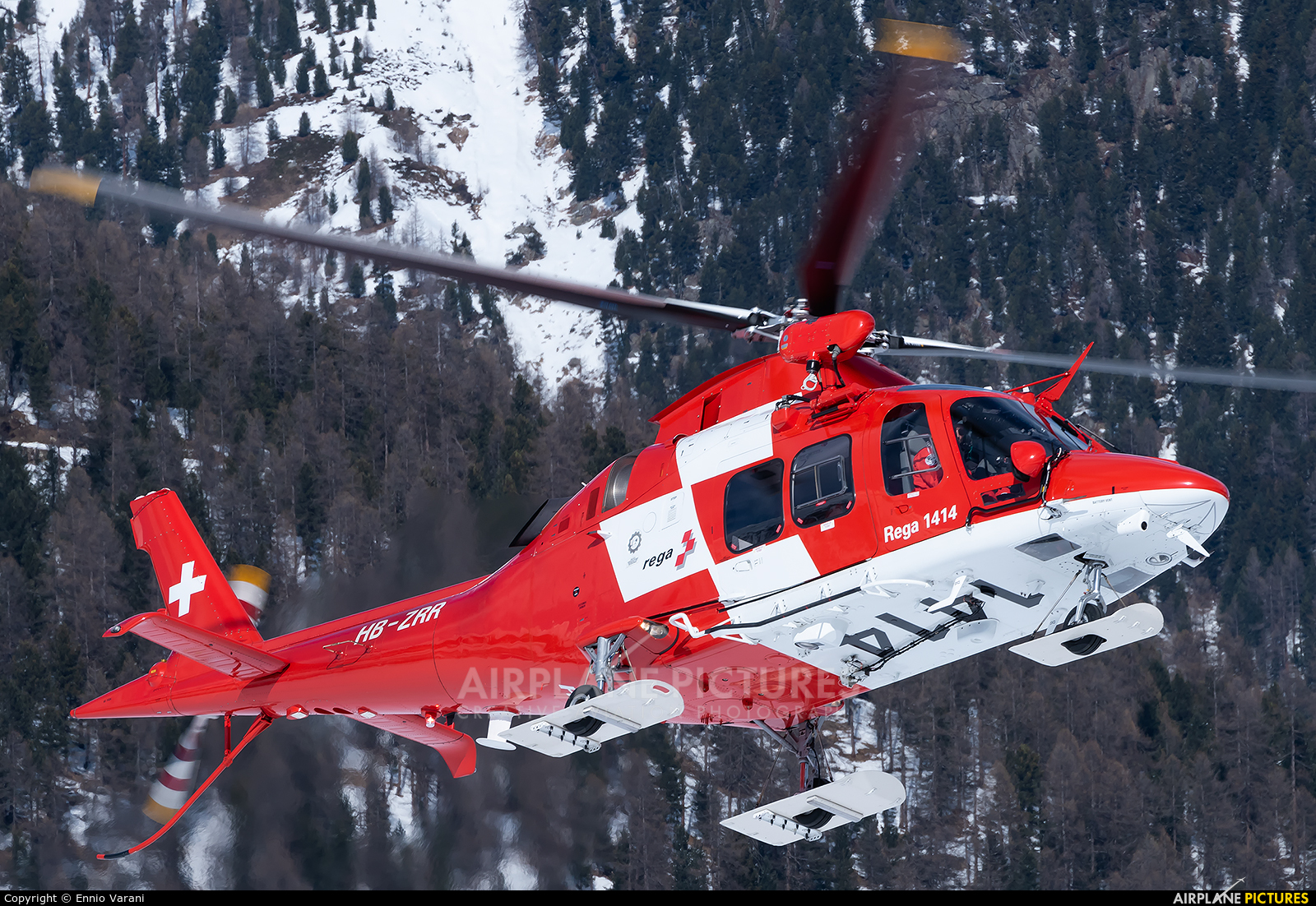 REGA Swiss Air Ambulance  HB-ZRR aircraft at Samedan - Engadin