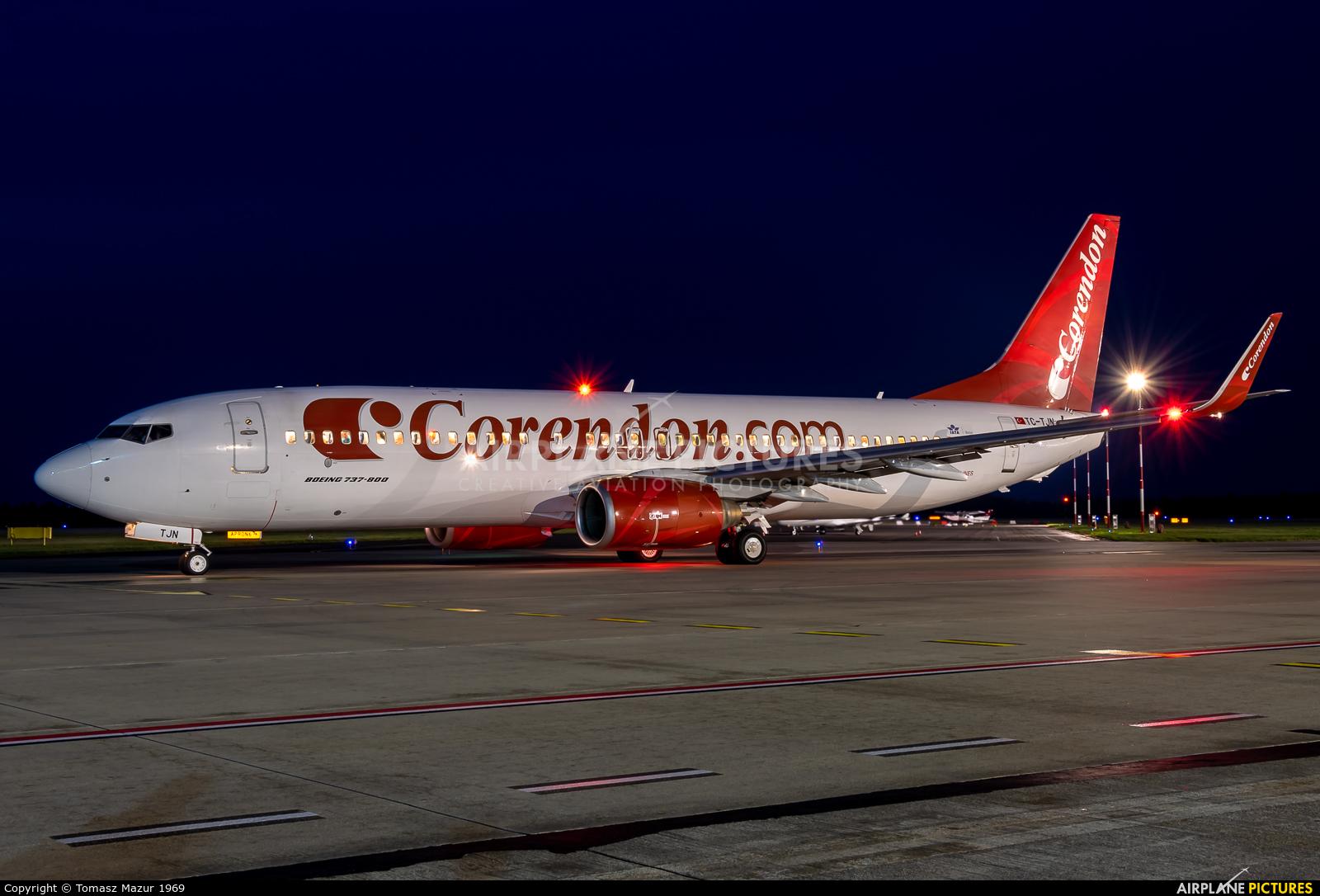 Corendon Airlines TC-TJN aircraft at Katowice - Pyrzowice