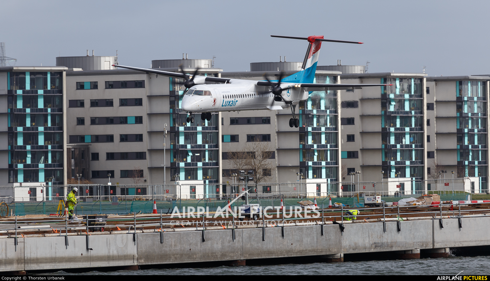 Luxair LX-LGN aircraft at London - City