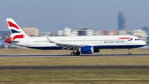 G-NEOT - British Airways Airbus A321 NEO aircraft
