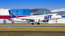 SP-LNG - LOT - Polish Airlines Embraer ERJ-195 (190-200) aircraft
