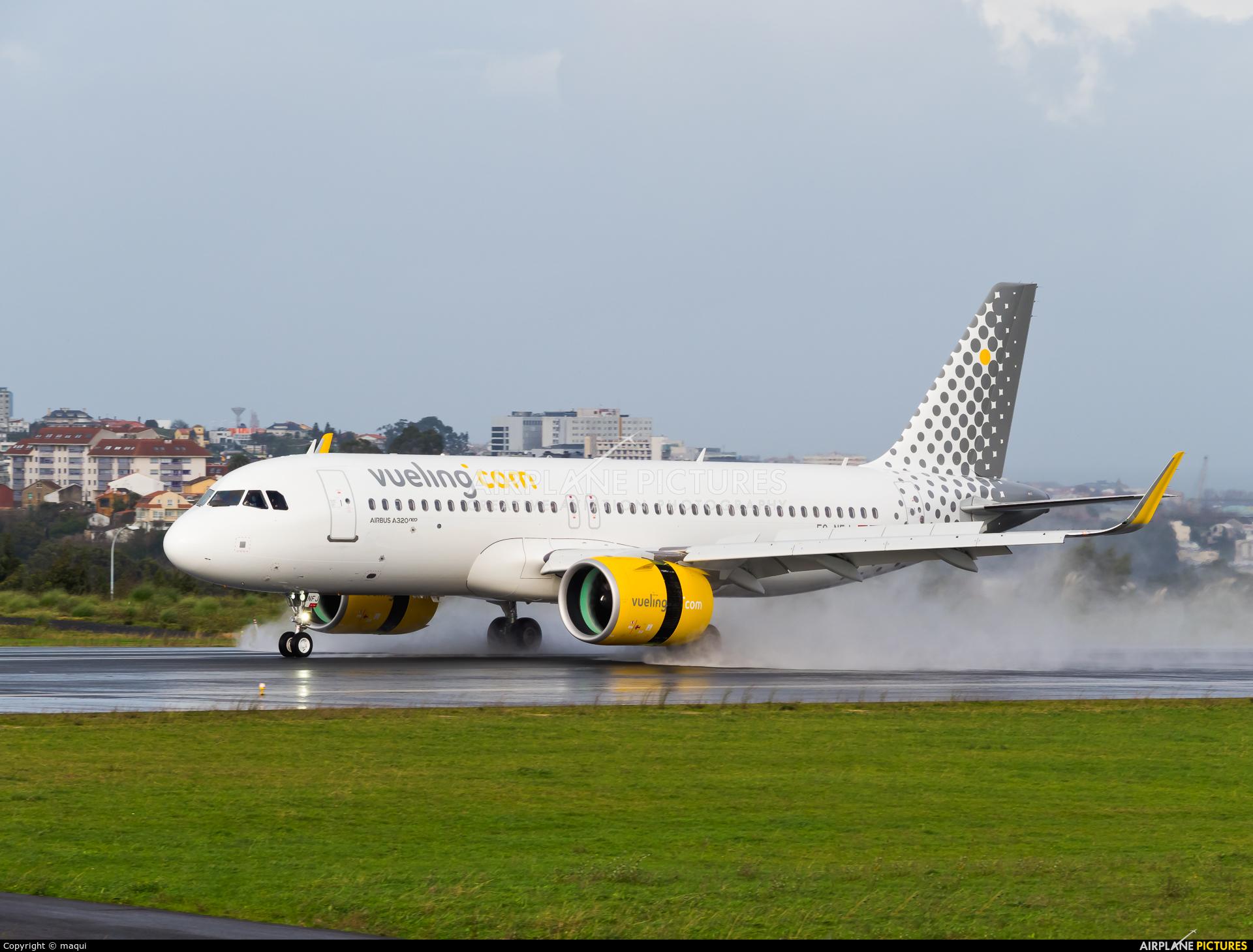 Vueling Airlines EC-NFJ aircraft at La Coruña