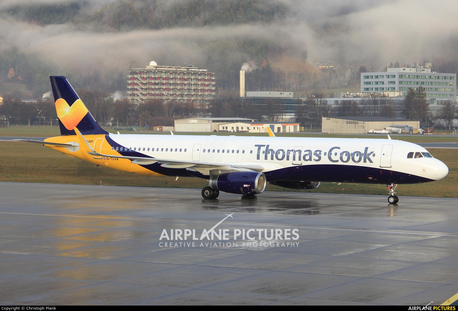 Thomas Cook G-TCVA aircraft at Innsbruck