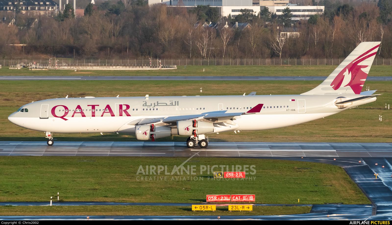 Qatar Amiri Flight A7-HHK aircraft at Düsseldorf