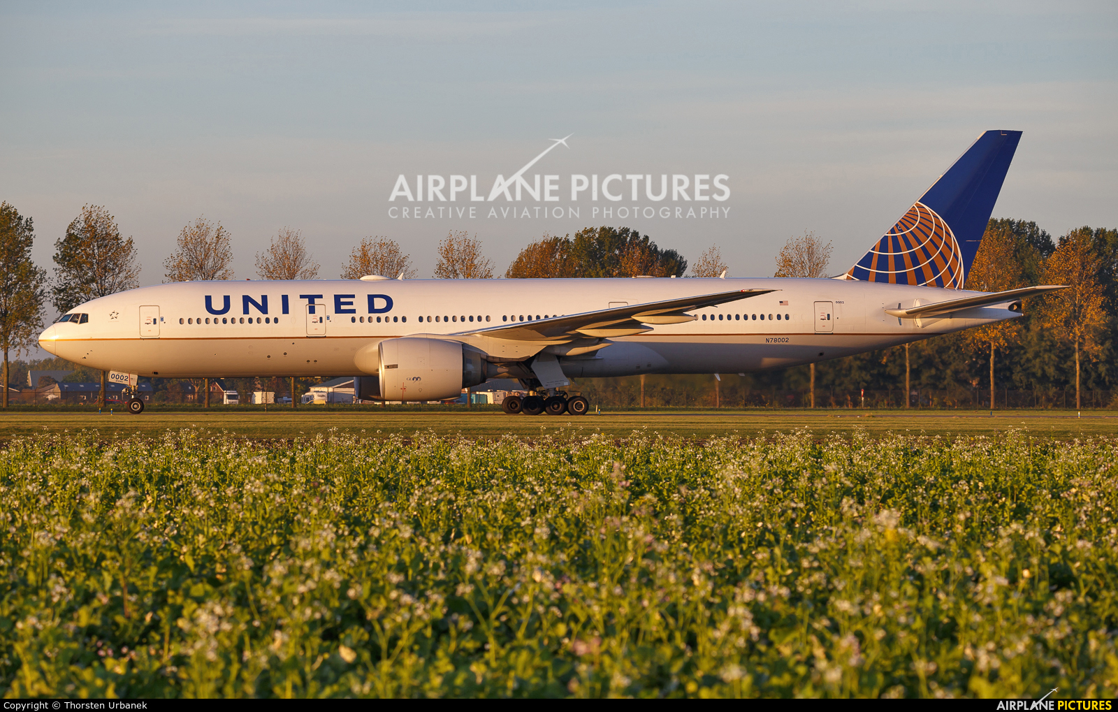 United Airlines N78002 aircraft at Amsterdam - Schiphol