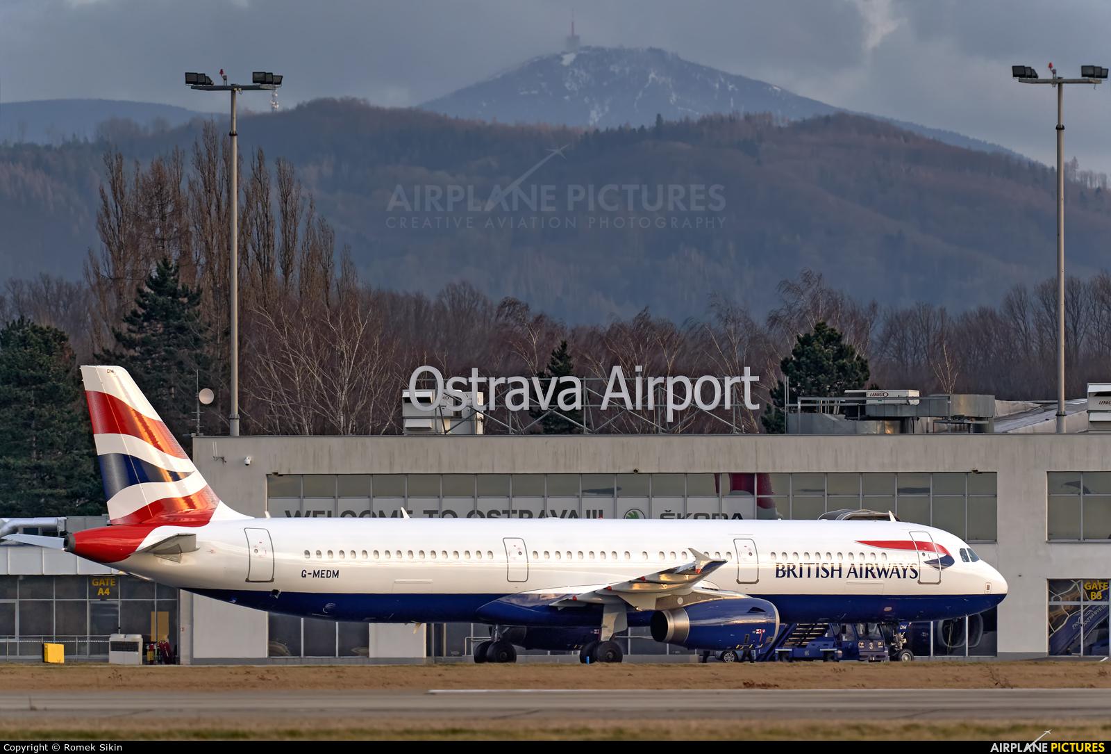 British Airways G-MEDM aircraft at Ostrava Mošnov