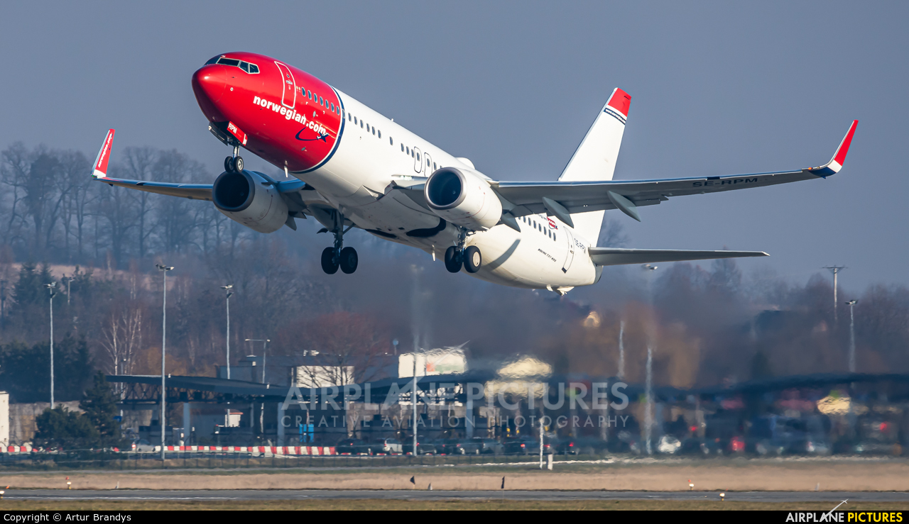 Norwegian Air Sweden SE-RPM aircraft at Kraków - John Paul II Intl